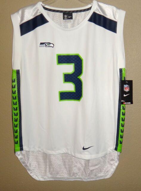95aac834b Womens S Thru 2x Nike NFL Seahawks Wilson  3 Sleeveless Shirt Mesh Tank Top  Small 748983 102