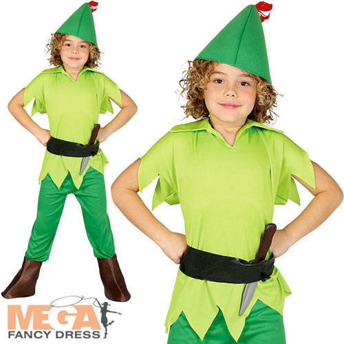 Archer Boys Fancy Dress Robin Hood Kids Fairy Tale World Book Day Childs Costume