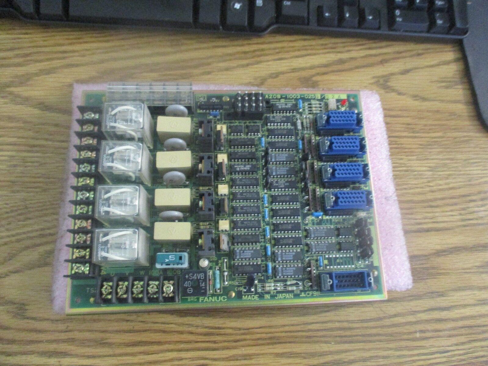 Fanuc Model  A20B-1003-0250 02A Relay Board