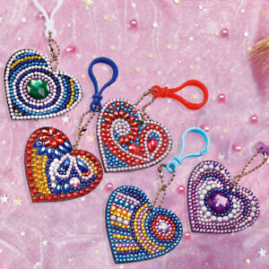 5pcs-DIY-Special-Shaped-Love-Heart-Full-Drill-Diamond-Painting-Keychain-Pendant