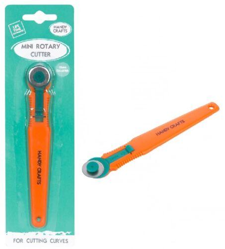 Práctico Crafts 18 mm mini cortador rotatorio las curvas de corte en papel Tarjeta O Tela 32002