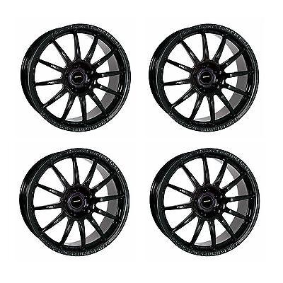 "4 x Team Dynamics Pro Race 1.2 Gloss Black Alloy Wheels - 8""x18"" ET45 5x112 PCD"