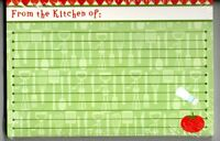 Red Green Tomato Utensil Kitchen Lined Recipe Card Set 30 Red Green 4 X 6