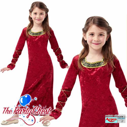Le ragazze LADY del Palazzo Costume Tudor Medievale Principessa Costume Outfit Nuovi
