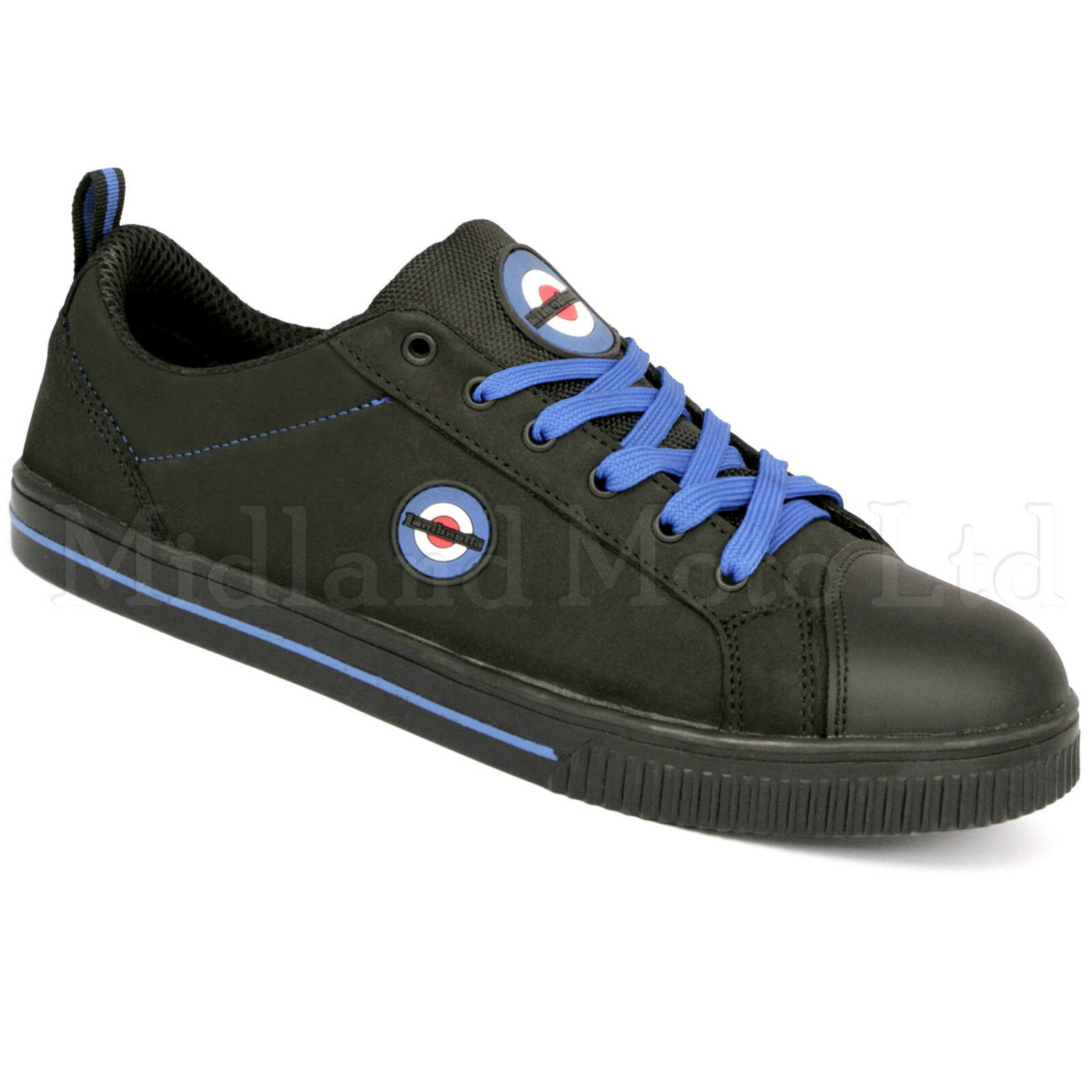 Lambretta Safety Steel Steel Safety Toe Cap Plimsoll Skater Style Schuhe. Trainers Pumps. DB002 f0a0f2