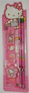 Mini-5-Piece-Stationary-Set-With-Cartoon-Cat-Colour-Pink
