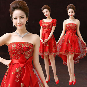 ... Prom-Club-Party-Chinese-Dress-Wedding-Bridesmaids-Dress-Bowknot-Y378H