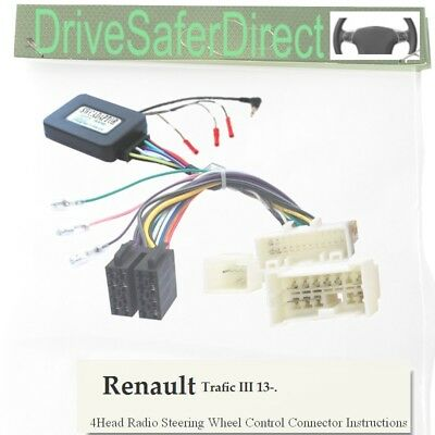 CTSRN009 Renault Trafic 2013 On Car Stereo Steering Wheel Control Interface Kit