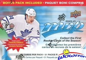 2020-21-Upper-Deck-MVP-Hockey-EXCLUSIVE-HUGE-21-Pack-Factory-Sealed-Blaster-Box