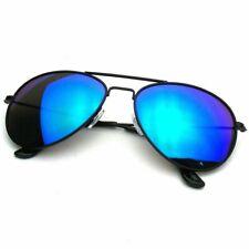 New DG Eyewear Mens Square Black Blue Mirrored Lens Sunglasses Shades Fashion