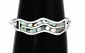 Artisan-Abalone-and-Mother-of-Pearl-Wave-Bracelet-from-Taxco-Mexico