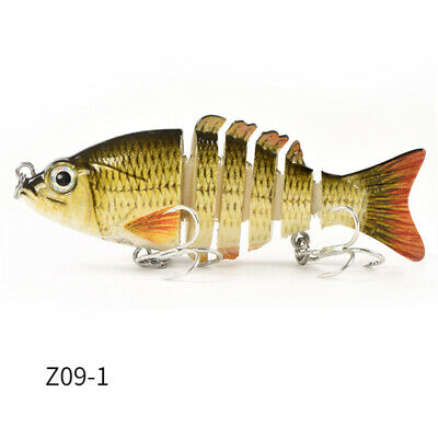 Multi-section Bionic Fishing Lures CrankBait Swimbait Bass Shad Fishing HooTS