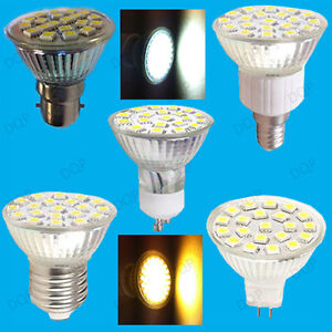 4 8w led spot light bulbs uk stock daylight or warm white replaces halogen lamps ebay