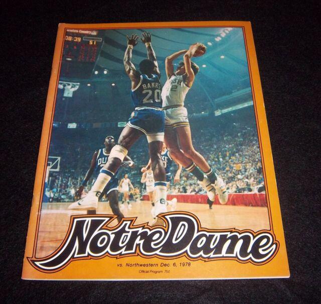 Notre Dame vs Northwestern Basketball Game Program ...
