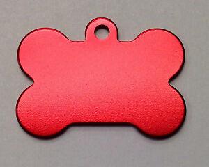 25 Bulk ID Wholesale Bone Pet identification blank tags Anodized Aluminum #1USA