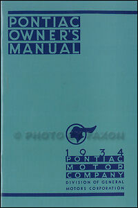 1934-Pontiac-Owners-Manual-with-Wiring-Diagram-34-Owner-Guide-Book