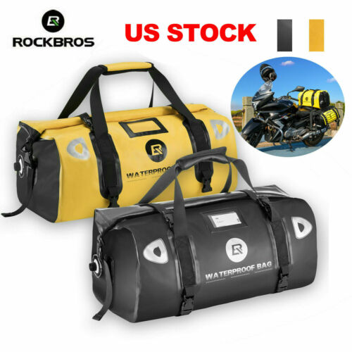 ROCKBROS Motorcycle Laggage Bags 100/% Waterproof Saddle Bags Capacity 55-62L US