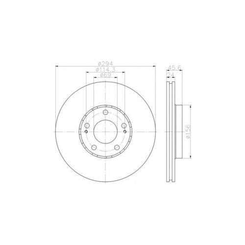 Neuf MITSUBISHI OUTLANDER MK3 2.0 Hybrid 4x4 Véritable Mintex Disques de frein Avant x2