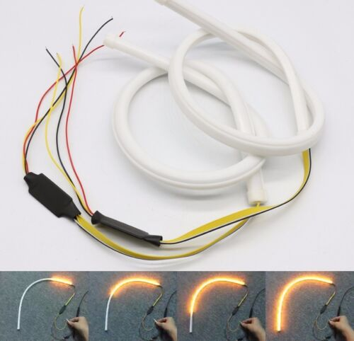 2x 45cm LED Switchback DRL Strip Light Sequential Daytime Running Turn Signal UK