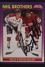 Kevin Miller Red Wings w/Kelley Auto 1991 Score #309P HockeyCard JSA 16H