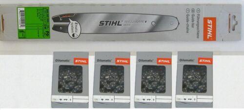 "4 cadena Stihl raíl guía rollomatic e mini 30cm 3//8/""p 1,1mm 3005 000 3905"