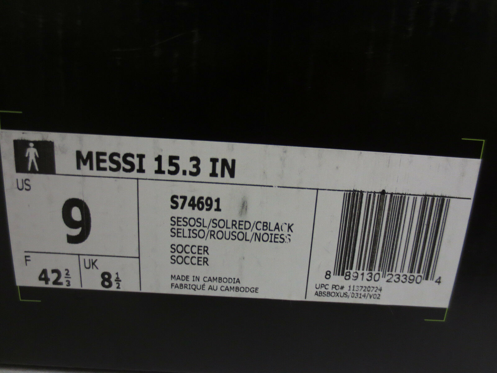 ADIDAS SOCCER MESSI 15.3 IN MENS SOCCER ADIDAS CLEATS SIZE 9 RUNNING LIGHT NEW INDOOR S74691 6034a6