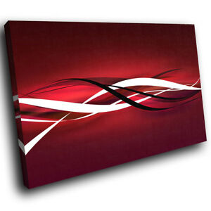 Details About Ab403 Red Black White Cool Modern Abstract Canvas Wall Art Large Picture Prints