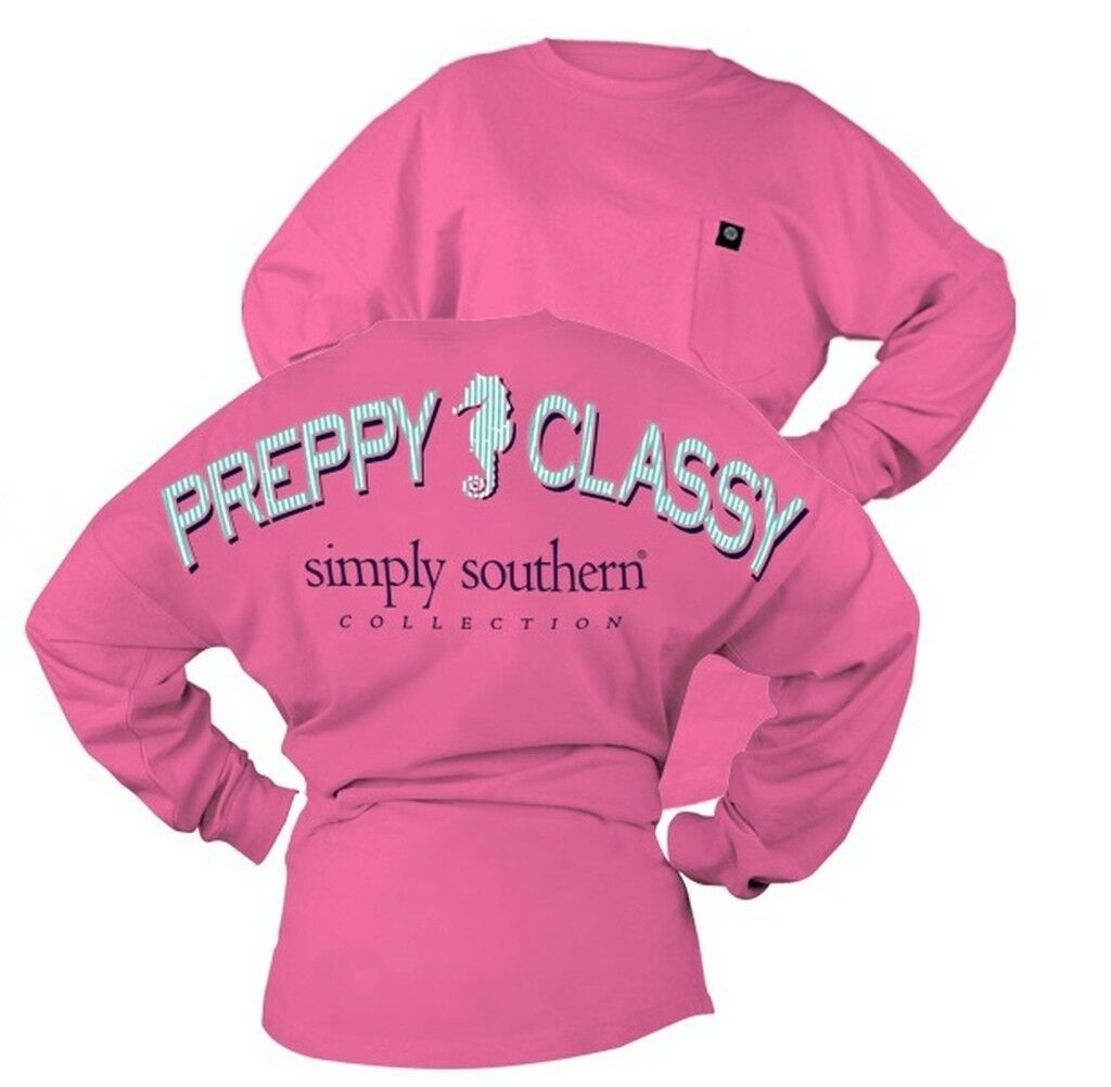 Seahorse Preppy Classy Drop Shoulders Spirit Jersey Shirt by Simply Southern