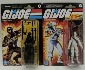 "Walmart Exclusive 3.75/"" INCH GI Joe Retro Storm Shadow FIGURE Hasbro *NEW* 2020"