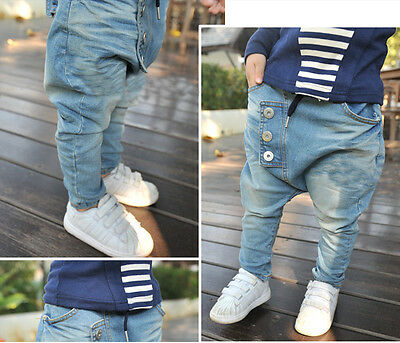 New Boys Kids Fashion Jeans Harem Pants Collapse Casual Trousers Fashion Version