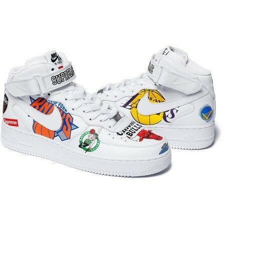 Supreme x NBA X Nike Shoes Air Force 1 Mid White Size 11.5 CONFIRMED