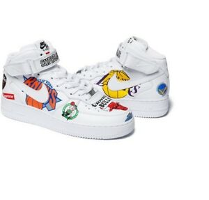 super popular 28163 e5bc4 Details about Supreme x NBA X Nike Shoes Air Force 1 Mid White Size 11.5  CONFIRMED