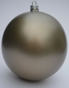 Weihnachtskugeln Xxl.Details Zu Xxl Drescher Weihnachtskugeln Bronze Christbaumkugeln Mundgeblasen ø13cm