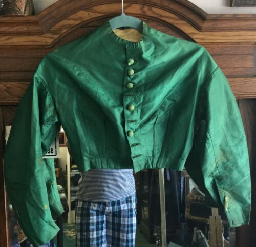 Antique Victorian1860s Green Bodice Blouse  - image 1