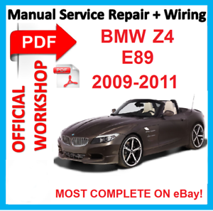 official workshop manual service repair for bmw z4 e89 2009 2010