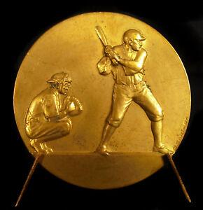 Medal-Sport-Players-Drummer-Baseball-G-Contaux-Sc-C-1930-Batter-Catcher-Medal