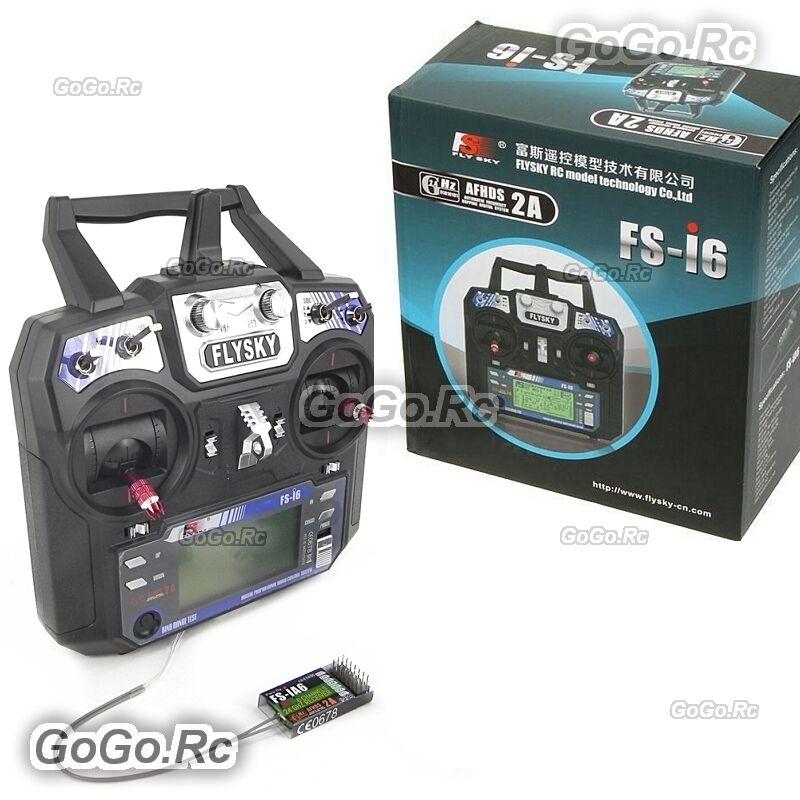 Flysky FS-i6 AFHDS 2A 2.4GHz 6CH Radio Transmitter+Receiver RC Multicopter w/box