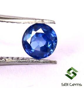 Certified-Natural-Blue-Sapphire-Round-Cut-4-25-mm-0-42-CTS-Ceylon-Loose-Gemstone