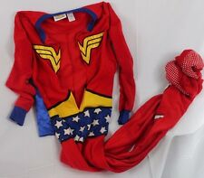Wonder Woman Pajamas size Medium Footie Zip Up with Cape Cosplay Costume