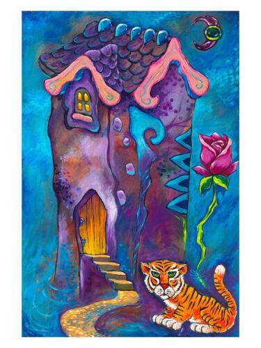 12x9 In. SIGNED by Jason Becker+Gary Becker Art Print LOVE IS A DREAMING ROSE