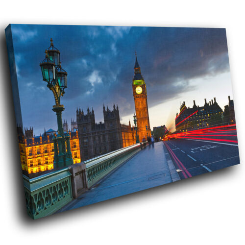 SC282 London Bridge Big Ben Cool Landscape Canvas Wall Art Large Picture Prints