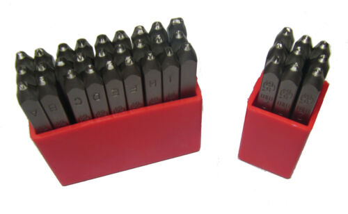 6MM RDGTOOLS QUALITY JEWELLERY LETTER AND NUMBER STAMPS MANY SIZES 1MM