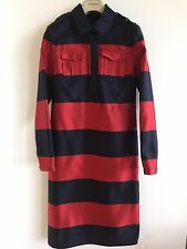 BURBERRY PRORSUM AW13 WOMENS 100% SILK STRIPE SHIRT DRESS SATIN £1495 RETAIL! 6