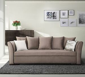 Exklusives Big Sofa Schlafsofa Bettsofa Sanremo Mit Bettkasten Mit