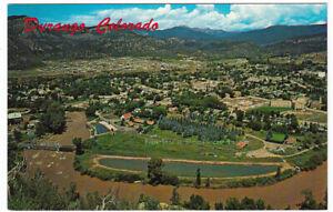 DURANGO-Colorado-c1960-POSTCARD-La-Plata-County-AERIAL-VIEW