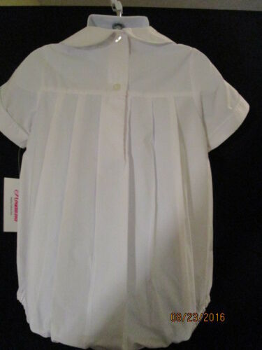 WHITE PLEATED BUBBLE W// VERY LIGHT BLUE PIPING ON COLLAR /& SLEEVES ROSALINA