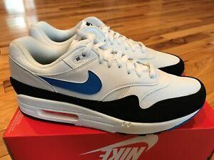 Details about Nike Air Max 1 White Photo Blue Total Orange AH8145 112 Men's Size 12