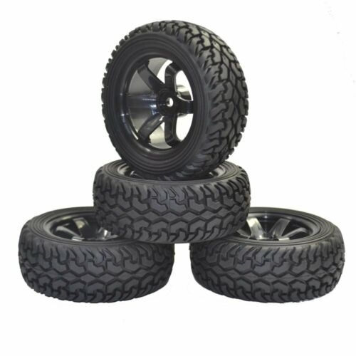 1:10 1:16 Rally Car Grain Rubber Tires Wheels FOR Traxxas Tamiya Hsp Hpi Kyosho