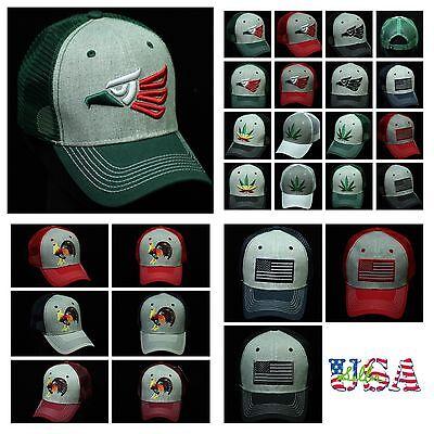 d2ddbe1dfb283 Trucker Hat Baseball Cap USA Flag / Hecho En Mexico / Rooster Snapback Mesh  Cap | eBay