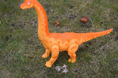 Delicious In Taste Helpful Large Brachiosaurus Dinosaur Action Figure Walking Sound & Lights new & Boxed